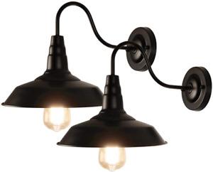 industrial wall light - black - barn lights - indoor - outdoor