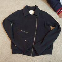 Womens S small Silence & Noise Anthropologie zipup sweatshirt black
