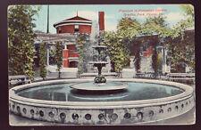 Peoria Illinois Il 1910 Bradley Park Fountain Pompeian Garden Old Postcard Pc