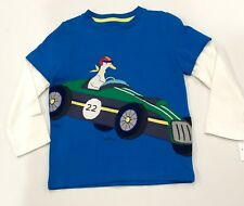 Mini Boden Duck Racing Car Appliquéd Top.Age 4-5 Retail $30 Price $22