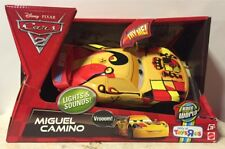 Disney Pixar Cars 2 MIGUEL CAMINO Lights & Sounds! 8.5 Inches