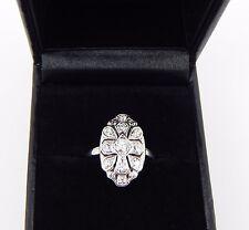 Fine Genuine Antique Art Deco 18K .59 Carat VS2 G Diamond Ring Size 6