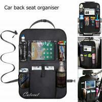 Car Back Seat Organiser Organizer ipad Tablet Holder Storage Kick Mats Kids