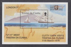 Tristan da Cunha Sc 663 MNH. 2000 Cutty Sark visit, souvenir sheet of 1, VF
