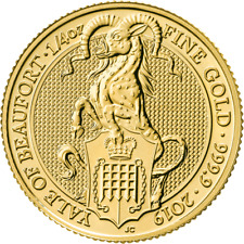 1/4 oz The Queen's Beasts 2019 The Yale Gold Bullion £25 złoto d'or once zelts