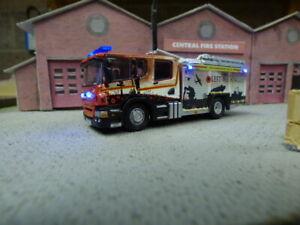 Humberside Scania fire truck,war scene pump ladder with lights