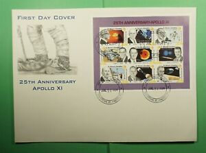 DR WHO 1994 ST VINCENT FDC SPACE APOLLO 11 ANIV CAHET S/S  Lg15791