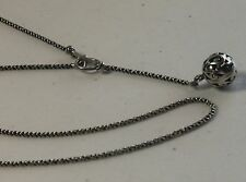 """Silpada 17"""" Sterling Silver Filigree Ball Bead Toggle Necklace N1619"""