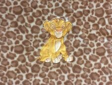 Disney Baby Blanket Simba Brown Giraffe Print Plush Lion King Security Lovey