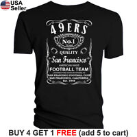 San Francisco 49ers T-Shirt JD Whiskey Graphic SF Men Cotton Whisky