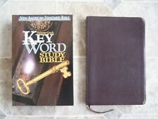 Hebrew-Greek Key Word Study Bible [NASB], + NASB Thinline burgundy- large print