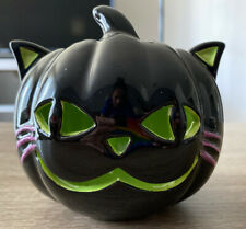 Bath & Body Works Halloween Back Cat Mini Candle Holder Luminary