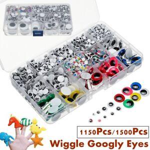 DIY Jewelry Making Assorted Sizes 125 pcs Plastic Googly Eyes Wiggle Eyes