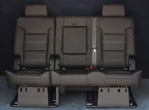 2020 2019 2018 2017 Yukon XL Denali 2nd Row Split Bench Seat in Black Leather