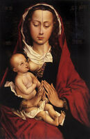 Nice Oil painting Rogier van der Weyden - Virgin Mary Madonna with child canvas