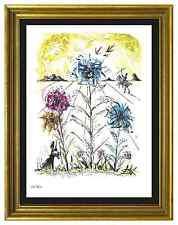 """Salvador Dali Signed/Hand-Numbrd Ltd Ed """"Flower Magician"""" Litho Print (unframed)"""