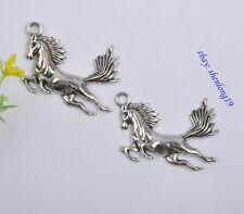 FREE SHIP 2PCS tibetan silver horse charm pendants SH824
