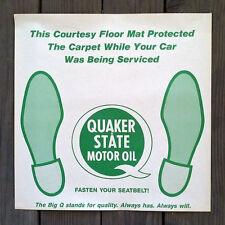 4 Vintage Original QUAKER STATE OIL Paper Floor Mat 1950s Unused NOS Old Stock
