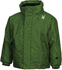 Spyder Mini Armada Jacket Boys Ski Snowboard Waterproof Insulated Coat Green 3