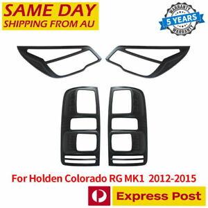 Tail Rear Light Lamp Cover Matte Black For Holden Colorado RG MK1 2012-2015