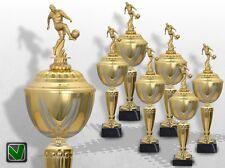 6er Fussball Pokale mit Gravur günstig kaufen GOLDEN PRESTIGE Fussball Pokal