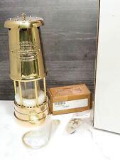 New Reproduction British Coal Miner's Lantern Miners Brass Lamp