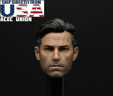 1/6 Ben Affleck Batman Head Sculpt 2.0 For Bruce Wayne Hot Toys Phicen Figure