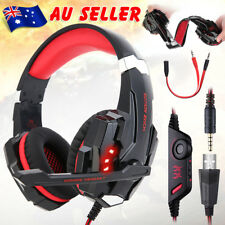 3.5mm LED Gaming Headset MIC Headphones G9000 for Mac Laptop PS4 Xbox One flc