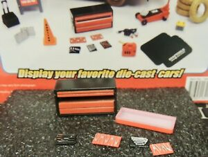 5 Drawer Red Tool Box w/tools GARAGE SHOP ACCESSORY  1:24 (G) SCALE