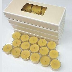 Pure BEESWAX Tealight Candles Handmade 100% Natural Bulk -Australian Made