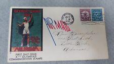 Scott #718 & 719 summer olympics 1932 addressed with cachet