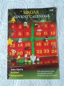 Alan Dart Knitted Keepsakes Advent Calendar Sirdar 298 Free P & P