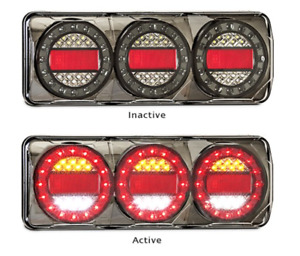 PAIR LED AUTOLAMPS COMBO LIGHTS 4X4 4WD TRAILER CAMPERS UTE TRAY Maxilamp C3XRW