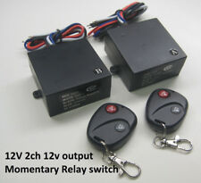 12V MOMENTARY 2 channels 12Vout DC contact relay remote control A B switch RM22