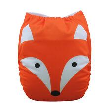 ALVA Baby Girl Fox Adjustable Reusable Washable Diaper Pocket Nappy +1Insert