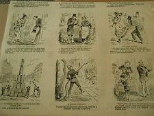 Caricature Vignettes Le Pompier cherche à eteidre l'incendie d'Irkoustk 19èm