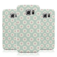 PINK DAISY PATTERN VINTAGE GREEN CASE COVER FOR SAMSUNG GALAXY MOBILE PHONES