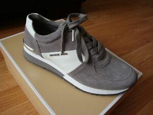 """NIB Women MICHAEL Michael Kors """"Allie"""" Trainer Casual Sneakers Steel Grey 10"""