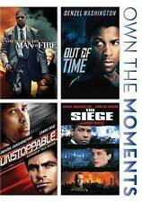 MAN ON FIRE/OUT OF TIME/UNSTOPPABLE/SIEGE (DVD, 2014, 3-Disc Set) NEW