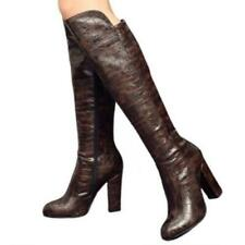 Women Punk Knight Over The Knee Thigh High Heel Boots Ladies Round Toe Shoes L