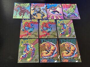 10) 1994 MARVEL UNIVERSE Limited Edition POWER BLAST lot Carnage Spider-Man Hulk