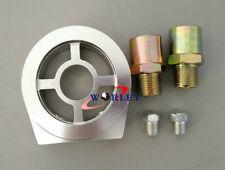 Aluminum Oil Filter Sandwich Plate Adapter 1/8 NPT 10AN Oil Cooler Silver
