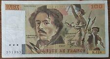 Billet 100 francs Eugène DELACROIX 1987 FRANCE  K.124