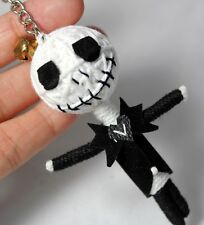 JACK SKELLINGTON KEYCHAIN VOODOO STRING DOLL NIGHTMARE KEYRING HANDMADE CRAFTED