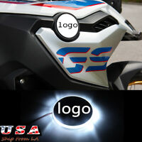 82mm Logo Emblem White Background LED Indication Light For BMW Motorcycle