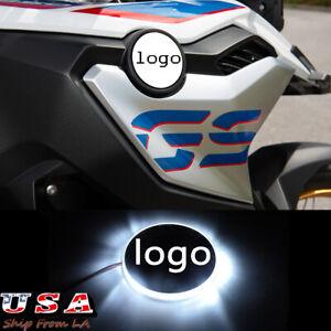 82mm Logo Emblem White Background LED Indication Light For BMW Motorcycle