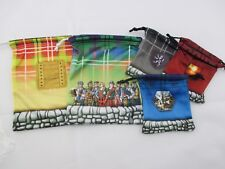 Clans of Caledonia - Drawstring Bags - Set of 5 Microfiber 10x9cm and 16x13cm