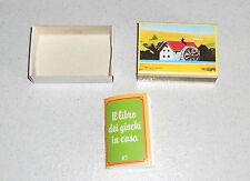 Mulino Bianco IL LIBRO DEI GIOCHI IN CASA 1983 Sorpresina Promo Gadget