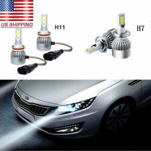 4Pcs For Toyota Celica 2000-2002 Headlight LED Bulbs Combo Conversion Kit White