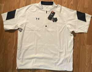 Notre Dame Football Team Issued Under Armour 1/4 Zip Jacket New Tags XL
